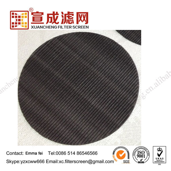 Plastic Recycle Carbon Steel Round Screen Filter Mesh