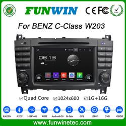 Funwin Android 4.4.4 car dvd player 2 din for mercedes w203 navigation 2004 - 2007 mirror link
