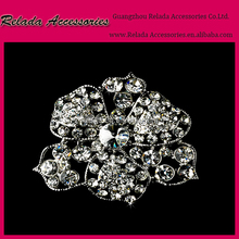 Factory wholesale jewelry Clear Rainstone Crystal Silver Gold plated Brooch and Scarf Clips RLD2318RB