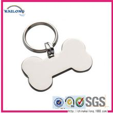 New Designed Anodized Cheap Aluminum Dog Tags With Silicone And Keychains