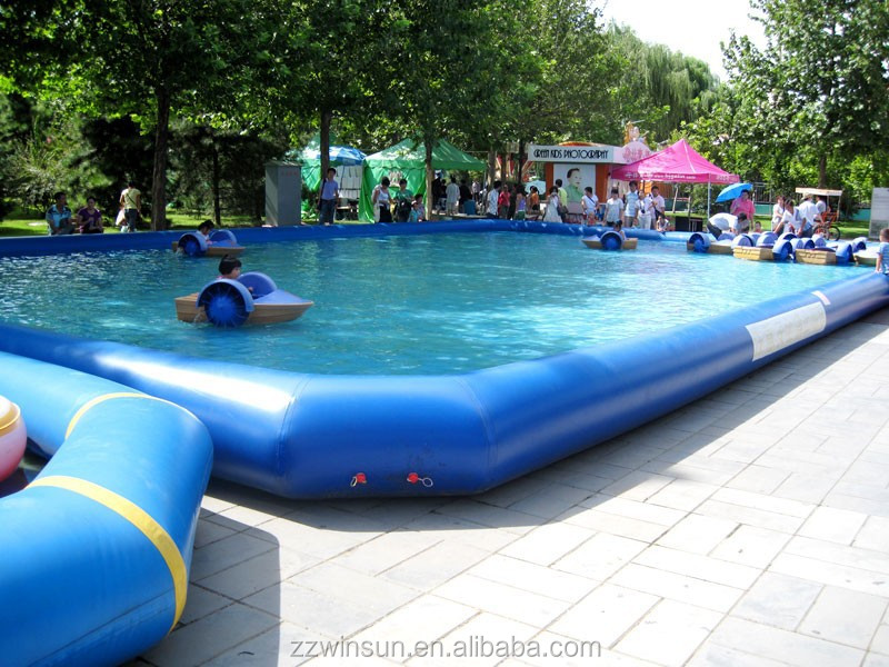 Floating inflatable boat swimming pool for kids