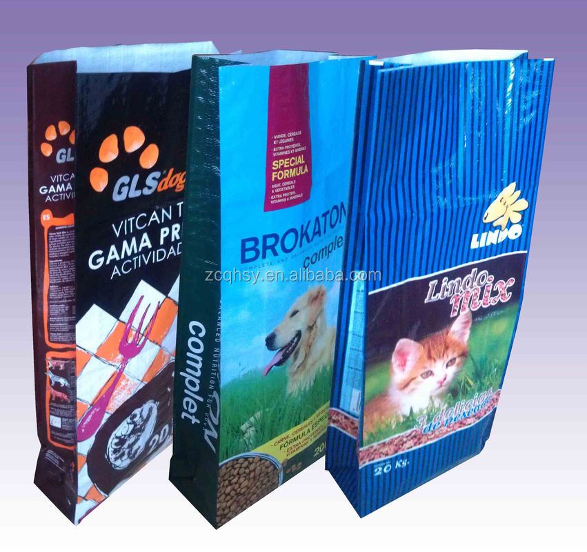 25kg 50*80cm dog food packaging bag pet food bag supplier