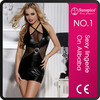2015 hot sale and fashionable sexy clubwear women tube dress sexy clubwear mini dress wetlook lingerie