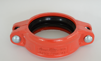 UL&FM approved ductile iron mechanical fittings products rigid rubber pipe coupling joint