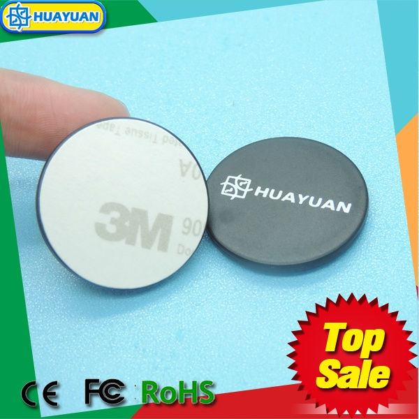 MIFARE DESFire ev1 4K RFID PVC disc tag with adhesive back