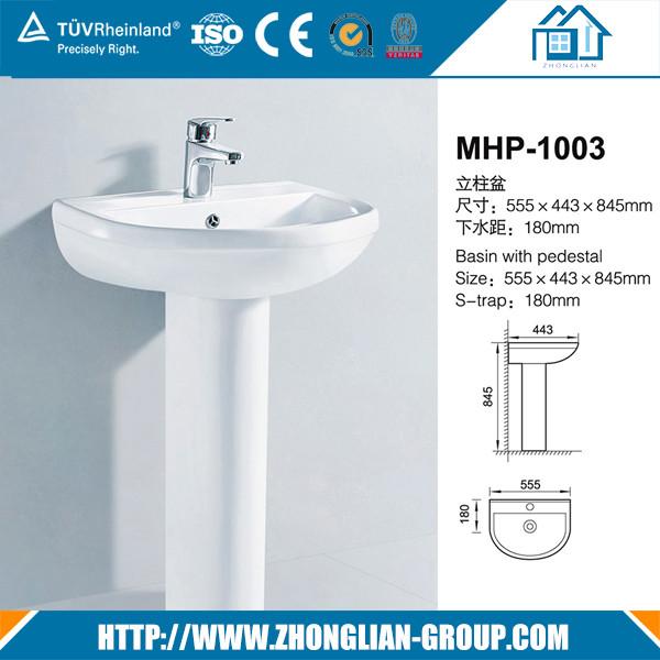 Sanitary ware China cabinet ceramic wash hand basin price