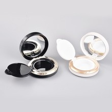Plastic round black and gold luxury bb cc cream air cushion case for compact