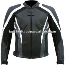 Unique top quality grain motorcycle leather jacket