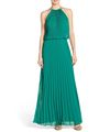 Chiffon Pleated Maxi Dress For Women