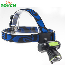 Aluminum Alloy Long range led chargeable headlamp T6 bulb 4 mode zoomable usb head light newest