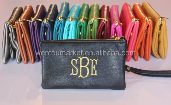 Personalized Monogrammed Cross-body Clutch Purse