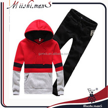 wholesale fashion men's embroidery hoody sweat suits from gzmcs