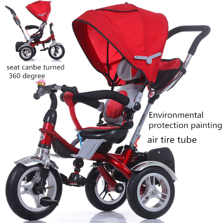 new type trike 4in1 type kids baby children tricycle high quality softtextile baby stroller 2016 new model stroller baby