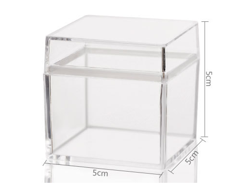 2018 Clear small Acrylic Display plastic Box with lid