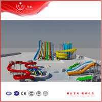 Outdoor Yellow / Green Water Park Rides For Water Theme Playground