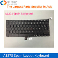 "Original new A1278 Keyboard For MacBook Pro 13"" Spain keyboard with backlight"