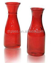 Red Hand Blown Murano Glass Vase, Glass bowls