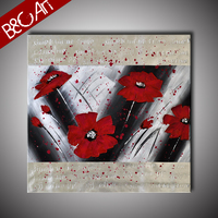 BC16-0036 High Quality Home modern flower Print Large Size Oil Painting