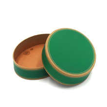 Professional Printing Your Logo Customized Small Green Cardboard Round Gift Packaging Box