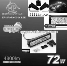 Off Road Motorcycle Suv Led Work Light Bar 72w