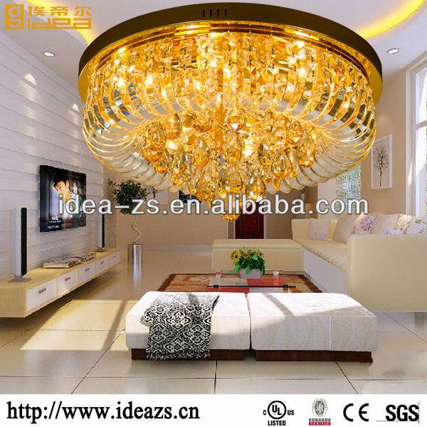 Modernes lustre cristal ceiling plafonnier pour chambre à coucher