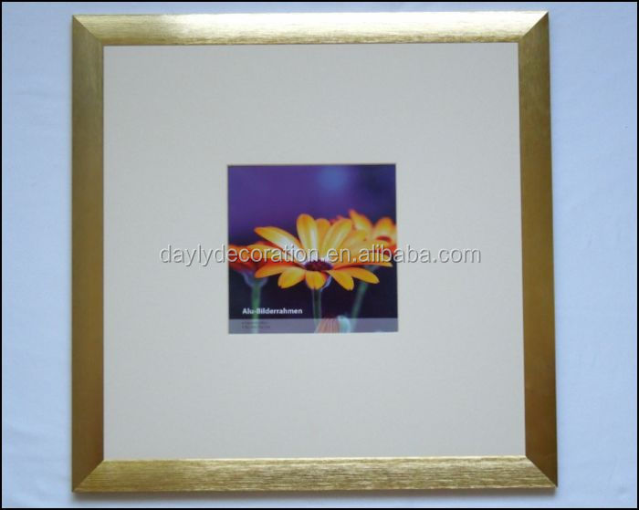 gold large size aluminum frame mini picture decorate photos with fancy frames