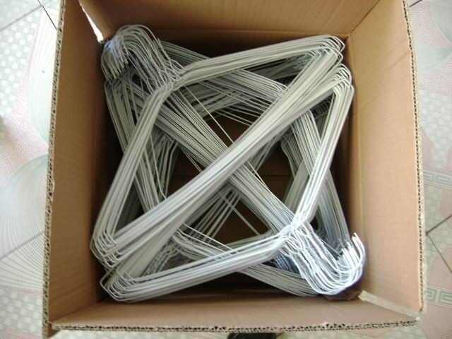 Dry Cleaning Wire Hangers With Plastic Powder Coated,Factory Price