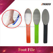 Wholesale professional stainless steel pedicure foot file with long handle foot callus remover