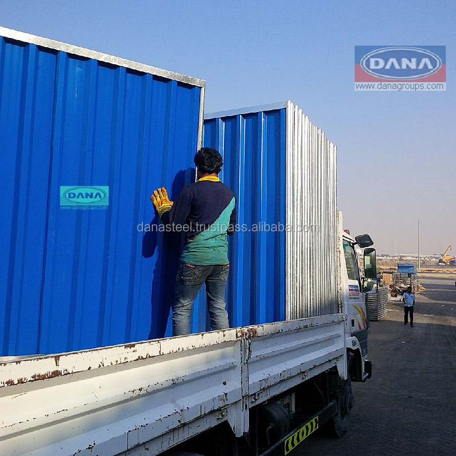 DANA Profiles and Hoarding Fence Panels Barricade Fencing Suppliers in UAE Fences Contractors Africa Exporters