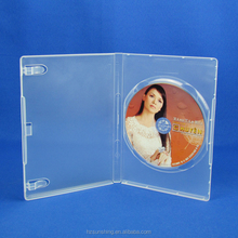 14mm clear single disc DVD case with high quality