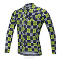 New Design 2018 Long Sleeve For Men's Cycling Jersey Quick-drying Plaid Bicycles Cycle Suit Sports Tops