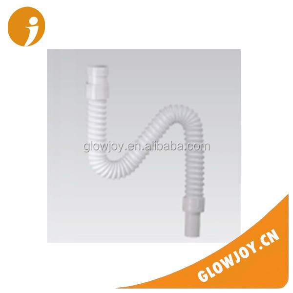 (GJWX-305) Good price coated PP white flexible waste pipe ,plastic drainage pipe