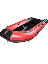 3.8m CE approved aluminum floor inflatable boat fishing boat made in China