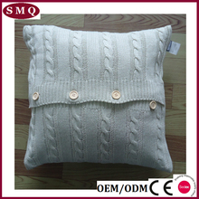 plain color cotton cushion cover knitted cushion cover