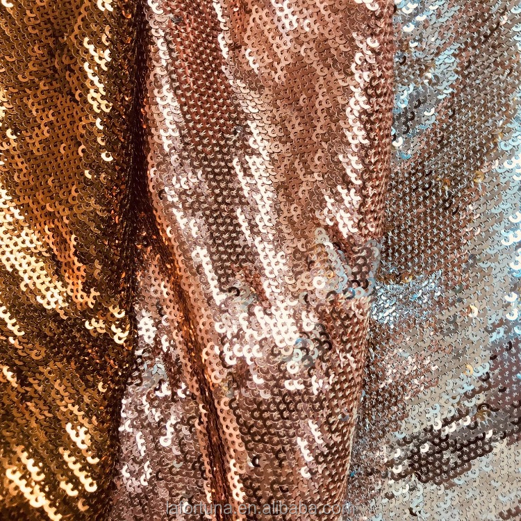 SEQUIN FABRIC REVERSIBLE FOR EVENING DRESS, SHOES, HANDBAG, BELTS AND HOME DECORATIONS