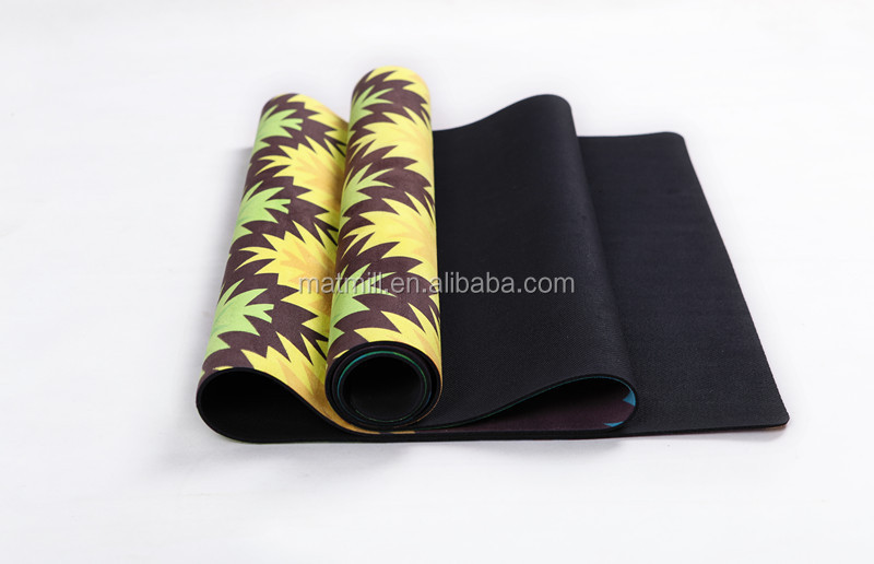 Suede yoga mat 2015 new fashion color stripe High - end sport goods