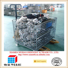 Wuhao evergreat metal pallet cage,large storage bins for storage