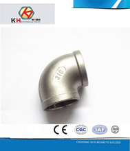 304 ISO4144 2 Inch Stainless Steel Casting Pipe Fittings Female Thread NPT 90 Degree Elbow