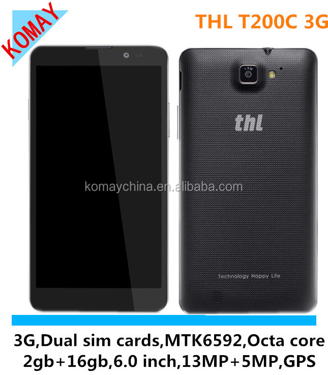KOMAY Original MT6592 THL T200 Octa Core 1.7Ghz 6.0inch FHD Screen 2GB RAM 32GB ROM 13MP 8MP Camera THL T200C