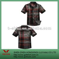 2012 New Arrival Plaids Short Sleeve Mens Casual Shirt