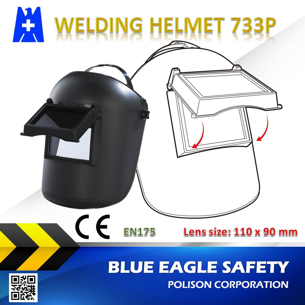 Welding & Soldering Supplies 733P flip-up overhead welding helmet with lens size 110 x 90 mm