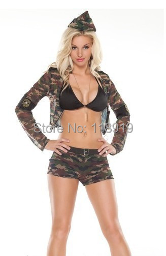 get quotations 2015 new adult womens sexy camouflage halloween party soldier costumes outfit fancy police cosplay topshorts size