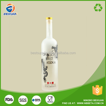 Frosted Vodka Bottle colored Champagne Glass Wine Bottles 750ML