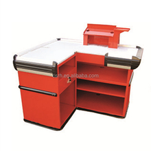 Manufacturer RH-CR013 1300*1100*850mm Supermarket Checkout Counter Desk Cashier Counter Table