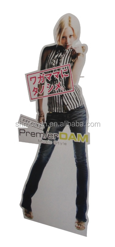 Customized cheap promotion cardboard poster display stand for Buy posters online cheap