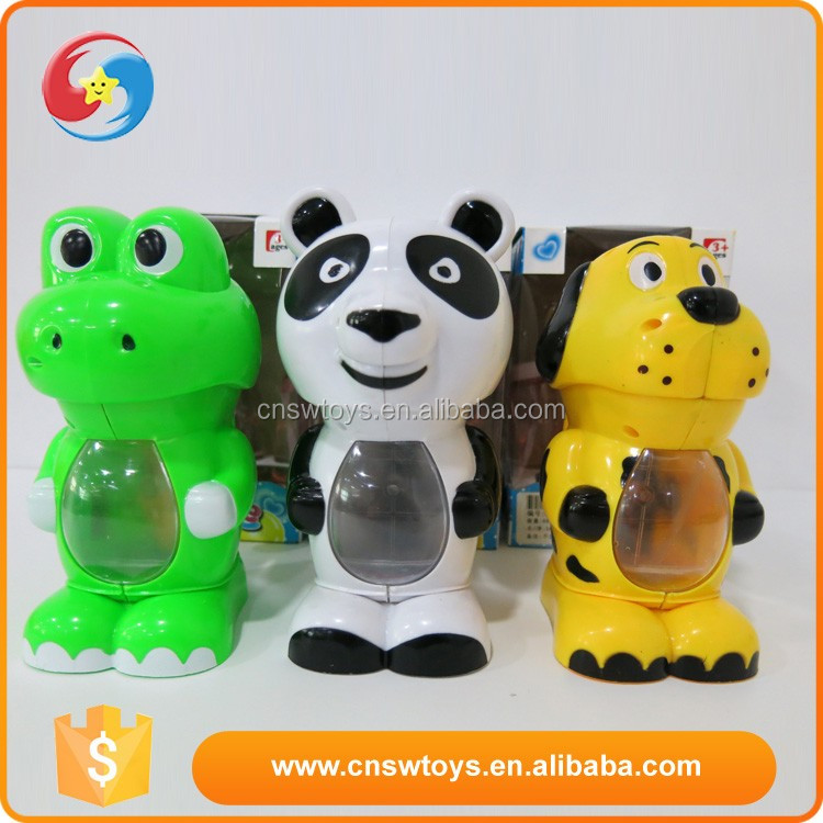 CB1803179 Hot sale Animal shape plastic automatical soap bubble machine toys