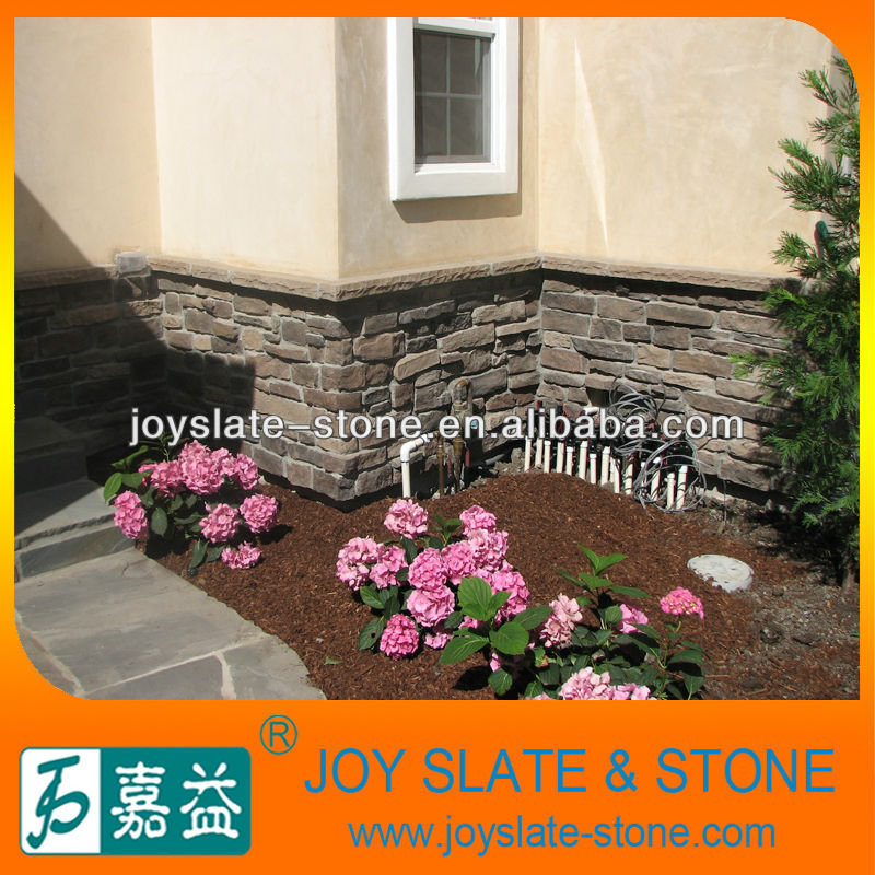 natural grey brick wall stone