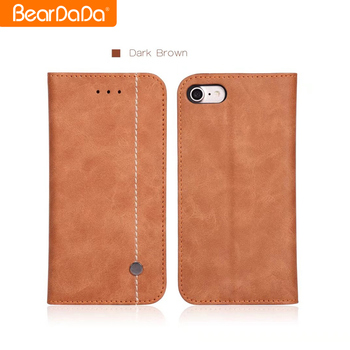 Popular Style cover for iphone 7 pu leather wallet case