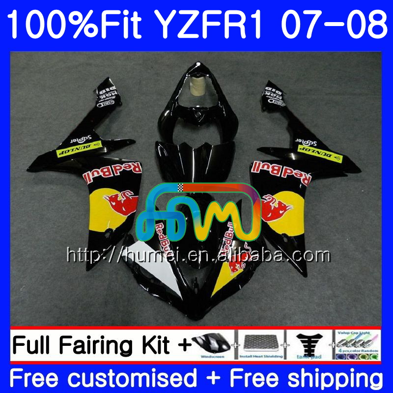 Injection Body For YAMAHA YZF <strong>R1</strong> 07 08 YZF-<strong>R1</strong> 2007 <strong>2008</strong> Yellow black 90HM37 YZF1000 YZFR1 YZF-1000 YZF 1000 R 1 07 08 <strong>Fairings</strong>