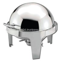 Buffet Stainless Steel Round Roll Top Chafer 6.8Liter